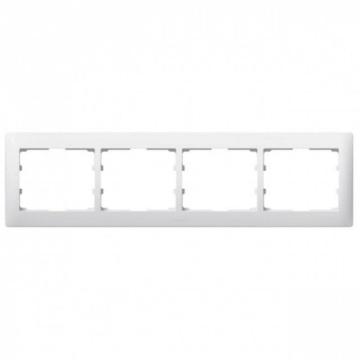 Рамка Galea life четырехместная горизонтальная (белая) 771004