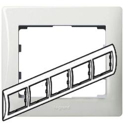 Рамка Galea life пятиместная горизонтальная (белая) 771005