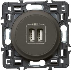 Розетка USB Сeliane тип А/тип A (графит) 067462+067956+080251