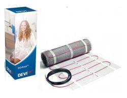 Электрический одножильный теплый пол DEVImat™ 75Вт 0,5м² DSVF-150