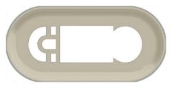 Лицевая панель для термопрограммируемого термостата Legrand Celiane (сл. кость) 066281