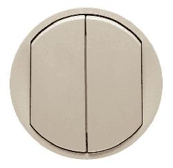 Лицевая панель Legrand Celiane для двухклавишного выключателя и переключателя (сл. кость) 066201