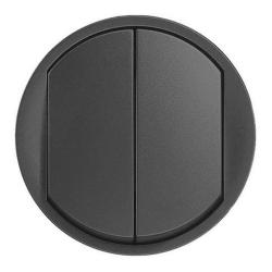Лицевая панель Legrand Celiane для двухклавишного выключателя и переключателя (графит) 067902