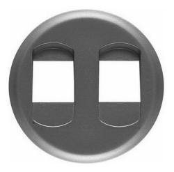 Лицевая панель Legrand Celiane для двойной акустической розетки (графит)