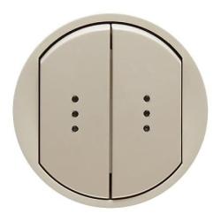 Лицевая панель Legrand Celiane для двухклавишного выключателя и переключателя с подсветкой (сл. кость) 066211
