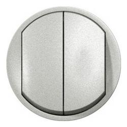 Лицевая панель Legrand Celiane для двухклавишного выключателя и переключателя (титан) 068302