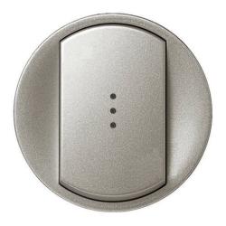 Лицевая панель Legrand Celiane для выключателя и переключателя с подсветкой (титан) 068303