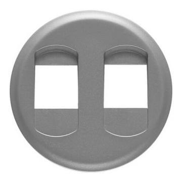 Лицевая панель Legrand Celiane для двойной акустической розетки (титан) 068512