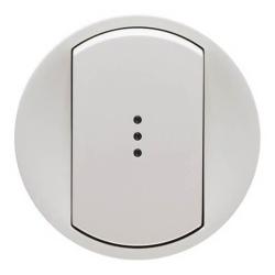 Лицевая панель Legrand Celiane для выключателя и переключателя с подсветкой (белая) 068003