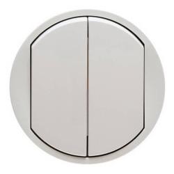 Лицевая панель Legrand Celiane для двухклавишного выключателя и переключателя (белая) 068002