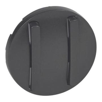 Лицевая панель Legrand Celiane для тонкого двухклавишного выключателя (графит) 065202