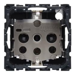 Механизм электрической розетки Legrand Celiane с заземлением с безвинтовыми зажимами 067153