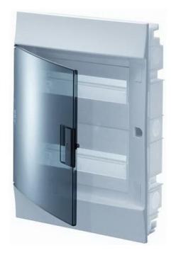 Бокс в нишу ABB Mistral41 на 36 (2x18) мод. зеленая дверца (без клемм) 1SLM004100A1206