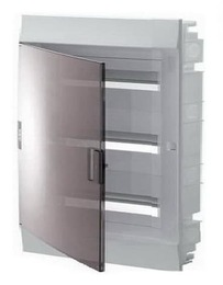 Бокс в нишу ABB Mistral41 на 54 мод. прозрачная дверца (с шиной) 1SLM004101A2209