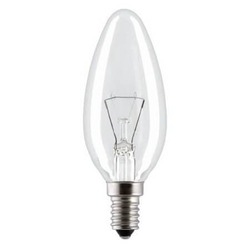 Лампа E14 40W (свеча прозрачная) Osram