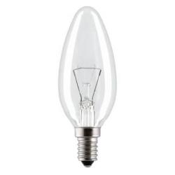Лампа E14 60W (свеча прозрачная) Osram