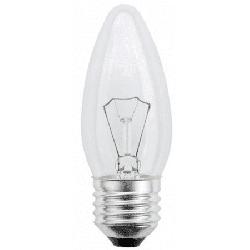 Лампа E27 60 (свеча прозрачная) Osram