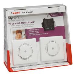Комплект радио управления освещением с двух мест Legrand (белый) 067277