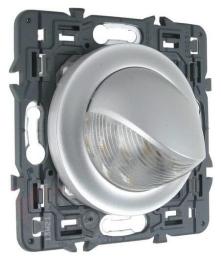 Поворотный точечный светильник Legrand Celiane (матовый хром) 067655+080251