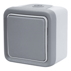 Выключатель-переключатель Plexo 10A, IP55 (цвет серый)