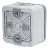Выключатель-переключатель с подсветкой Plexo 10A, IP55 (цвет серый) 069713