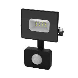 Прожектор светодиодный Gauss Elementary-S 10W IP65 черный с датчиком движения 628511310