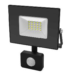 Прожектор светодиодный Gauss Elementary-S 30W IP65 черный с датчиком движения 628511330
