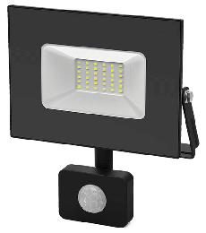 Прожектор светодиодный Gauss Elementary-S 50W IP65 черный с датчиком движения 628511350