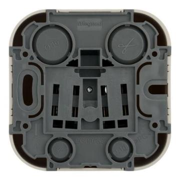 Розетка с заземлением с защитными шторками Quteo (Дерево) 782280