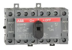 Рубильник реверсивный ABB OT25F4С 25А 4х полюсный с ручкой 1SCA104877R1001
