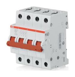 Рубильник ABB SD204 16A (красный рычаг)  2CDD284101R0016