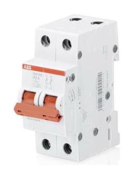 Рубильник ABB SHD202 25A (красный рычаг) 2CDD272111R0025