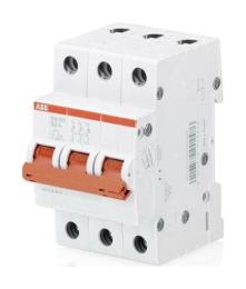 Рубильник ABB SHD203 16A (красный рычаг)