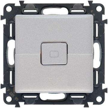 Кнопка-выключатель для рольставней Valena Life (алюминий) 752030+755142