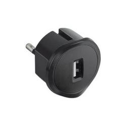 Зарядное устройство 220V, USB, 1,5A (черный) 050681