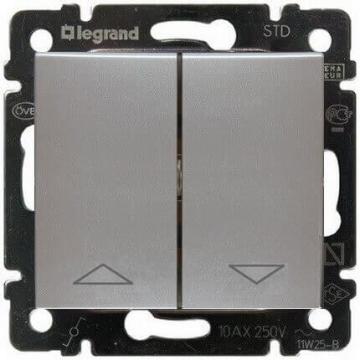 Кнопка-выключатель для управления жалюзи Valena (Алюминий) 770114