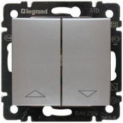 Выключатель для управления жалюзи Valena (Алюминий) 770104
