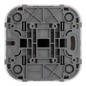 Выключатель двухклавишный с подсветкой 10А Quteo (Белый) 782202+782257